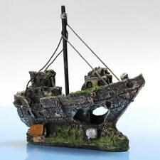 Pirate Ship Aquarium Decoration Nautical Boat Fish Tank Safe Ornament Resin AU