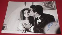 PRISCILLA PRESLEY SIGNED ELVIS KISSING BRIDE MARRIAGE 8X10 PHOTO AUTOGRAPH COA