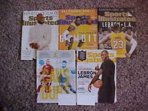 King LeBron James 5 Magazine Lot- Sports Illustrated SI