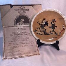 "Norman Rockwell, ""Promenade a' Paris"" Collectors Plate Limited Ed, w/ Box, 5510C"