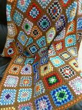 Crochet Blanket 118cmX118cm  Hand made Granny Squares Knee Throw Rug