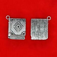 4 x Tibetan Silver Spell Book Teacher School Story Harry Potter Charms Pendant