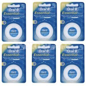 48 x Oral B Floss Essential Regular Floss | Dental Unwaxed Floss