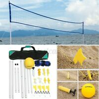 Adjustable Height Portable 240INCH Beach Game Volleyball Net Pump Ball Carry Bag