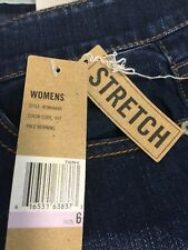 """DNKY JEANS """"pale morning"""" stretch size 6 wide leg blue double back pockets"""