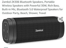 Zamkol ZK306 Bluetooth Speakers, Portable Wireless Speakers with Powerful...