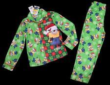 DESPICABLE ME 2pc Boys Naughty or Nice Christmas Pajamas Top Bottoms ~ 10 NWT aa