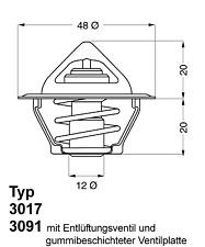 Thermostat Kühlmittel - Wahler 3017.92D2