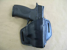 Smith & Wesson Sigma SD40VE SD9 Leather 2 Slot Molded Pancake Belt Holster Black