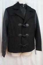 International Concepts Mens Jacket Sz M Black Wool Front Buttons Casual Jacket