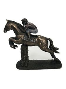 The Hurdler Bronze Horse Racing Sculpture Cold Cast Bronze