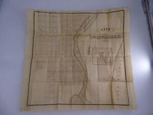 Antique 1840s City of Milwaukee Wisconsin Street Map W. Haviland Original Vtg