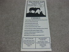1879 Chisholm Grill Paper Menu Vintage To-Go Restaurant Waxahachie Texas