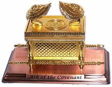 Metal Arc Figurine, Ark Of The Covenant Display Copper Decor Office Large New