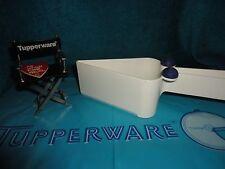 VINTAGE TUPPERWARE PIECE O PIE & CAKE SLICER GADGET WHITE/BLUE # 2872