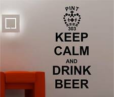Keep Calm & DRINK BEER Pegatina Adhesiva Vinílica Pared Bar Pub