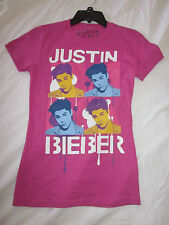 SALE!!! New $20.00 JUSTIN BIEBER Beautiful Rose Pink Junior Top -  Size:  Medium