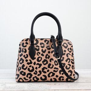NWT Kate Spade New York Darcy Graphic Leopard Small Satchel Crossbody