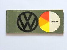 VW 1200 Käfer / Bettle - Farbkarte -  Farbskala  ca. 1960