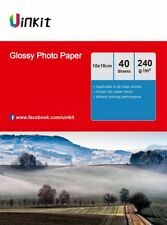 160 sheets 4x6 Inkjet Photo Paper High Glossy 230 240Gsm 6x4 102x152mm Uinkit