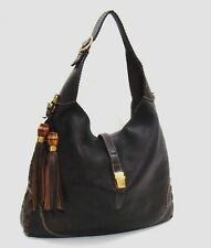 5733d13763a7fa $2800 Gucci Dark Brown Distressed Pebbled Leather 'New-Jackie Large  Shoulder Bag