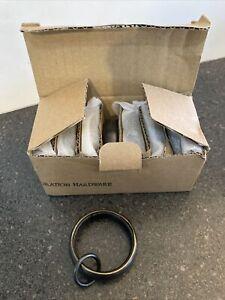 """Set of 7 Restoration Hardware Estate Loop Rings. Oil Rubbed Bronze Med 1 1/4"""""""