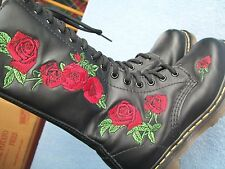 Dr Martens Womens Size 5 (UK 3) EU 36 Vonda Rose 14-Eye Side-Zip Boots