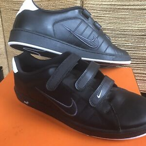 NIKE Court Tradition V 2 Brs Trainers Black Leather Uk 13 Mens  New