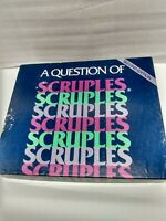 A Question of Scruples 2nd Second Edition 1986 Board Game Complete