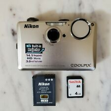 Nikon COOLPIX S1100pj 14.1MP Digital Camera Projector 4gb Card No Charger