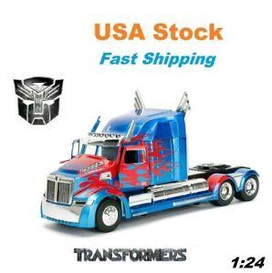 "Transformers 5 Optimus Prime Western Star 5700 XE Phantom JADA Diecast 11"", 1:24"