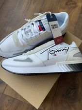 Tommy Hilfiger Jeans Mens Leather Lifestyle Sneakers Trainers Size UK 10 EUR 44