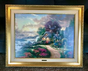 Thomas Kinkade A New Day Dawning Framed Canvas 25-1/2 x 34 S/N 3686 of 3950 COA