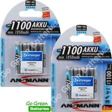 8x Ansmann AAA 1100 mAh High Power NiMH Rechargeable Batteries HR03 Micro ACCU