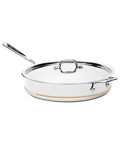 All-Clad 6406 SS Copper Core 5-Ply Bonded  6-qt Saute Pan with Lid