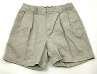Ralph Lauren Polo Shorts Size 32 Waist Chino Khaki Pleated Front Business Andrew