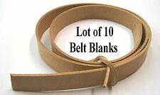 "Leather Belt Blank 9 oz Natural Veg Tanned 1 1/2"" Lot of 10 Varying Sizes 48-56"""