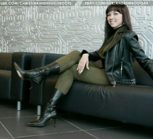 GIANMARCO LORENZI EU 40 US 9,5 pointed toe high heels leather ankle boots VIDEO