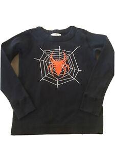 Hanna Andersson Boys Spider Halloween Shirt 100cm US 4