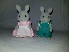 Sylvanian Families Rocky Crystal Bubba (x2) Breezy Babblebrook Gray Rabbit