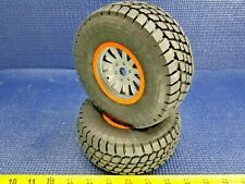 *NEW* Losi Desert Claw Tires/Wheels -Orange Ring (2) 1/6 Super Baja Rey LOS45021