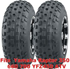 Yamaha Raptor 350 660 700 YFZ450 ATV 2 front 21x7-10 21x7x10 Knobby tires
