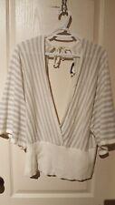 Knit Avenue Plus White/Silver Top size 2X