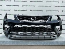 SEAT ATECA XCELLENCE 2017-2020 FRONT BUMPER IN BLACK WITH GRILLS GENUINE [O157]