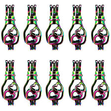 C539-10CPS Love Drift Bottle Beads Cage Locket Pendant Floating Charms