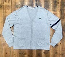 Men's Lyle & Scott Cotton Knitted Button Front Cardigan Grey XL