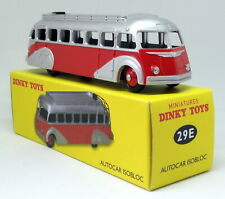 Atlas Dinky Toys Reproduction 29E Autocar Isobloc Red Silver Diecast Model Bus