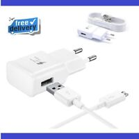 Samsung EU 2 Pin Fast Charger Adapter, USB cable for Galaxy S6 S6 Edge S7 Edge