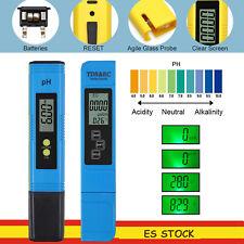 medidor digital de pH LCD +3 en 1 TDS EC  Temperatura Probador Pluma en azul