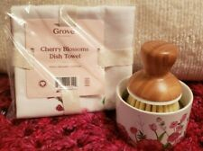 Grove Collaborative~Cherry Blossom BubbleUp Soap Dispenser &.Matching Dish Towel